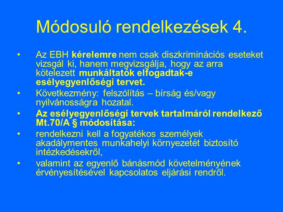 Módosuló rendelkezések 4.