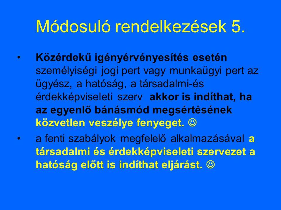 Módosuló rendelkezések 5.