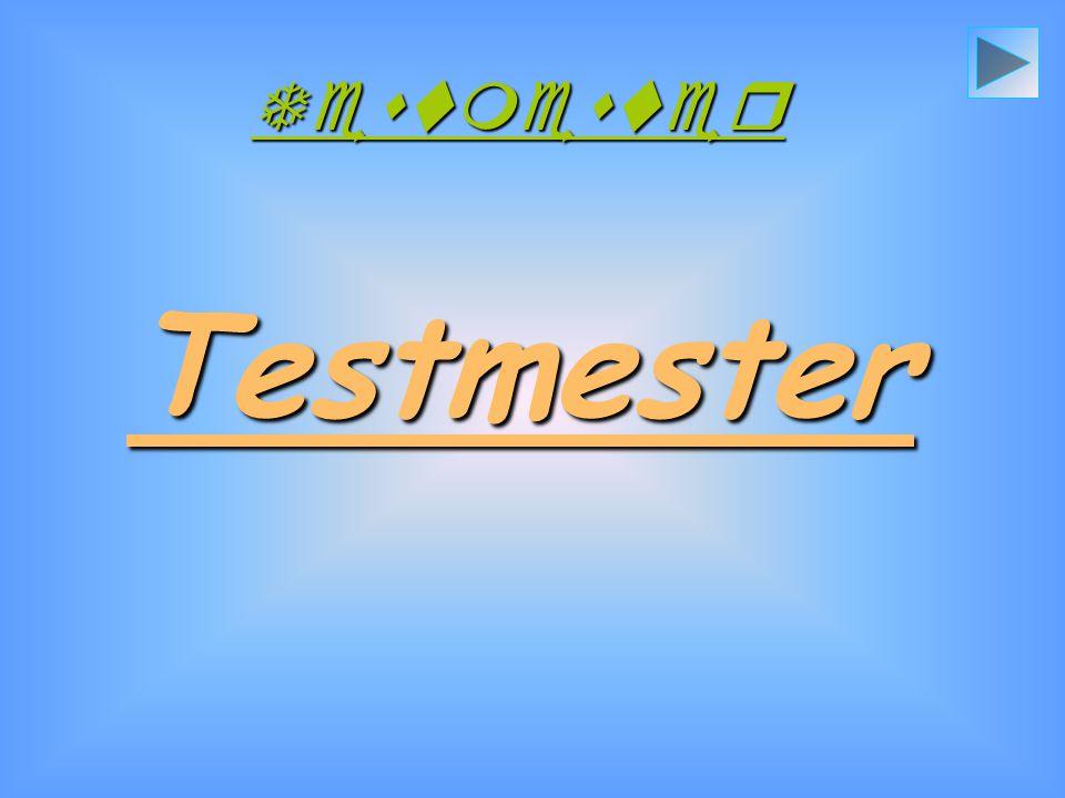Testmester Testmester