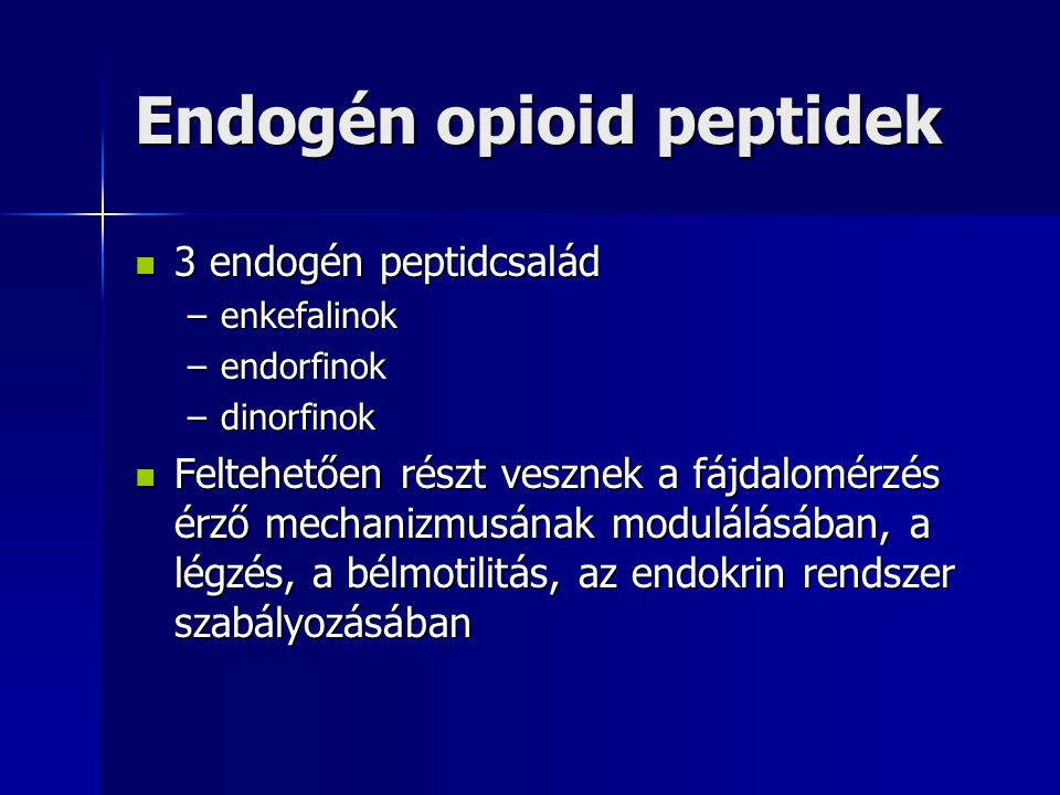 Endogén opioid peptidek