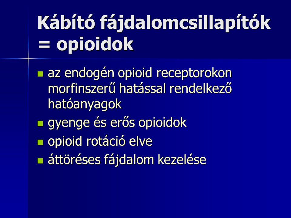Kábító fájdalomcsillapítók = opioidok