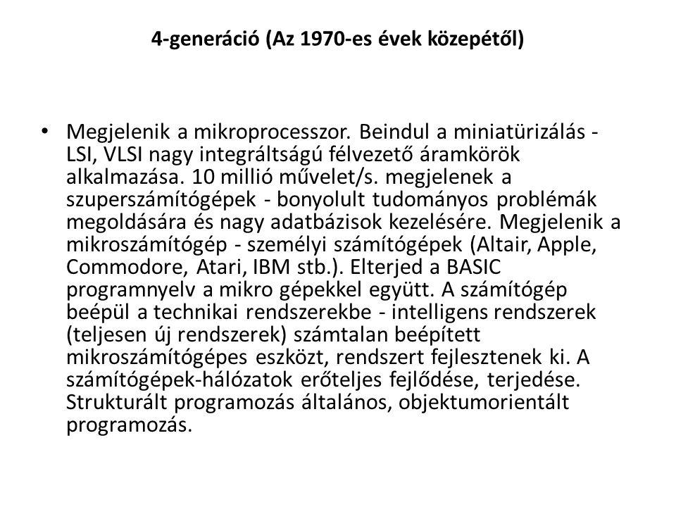 4-generáció (Az 1970-es évek közepétől)