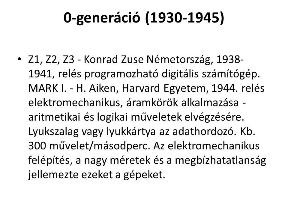 0-generáció (1930-1945)