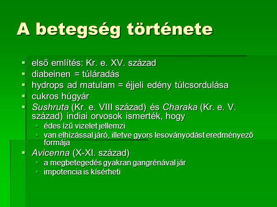 A betegség története első említés: Kr. e. XV. század