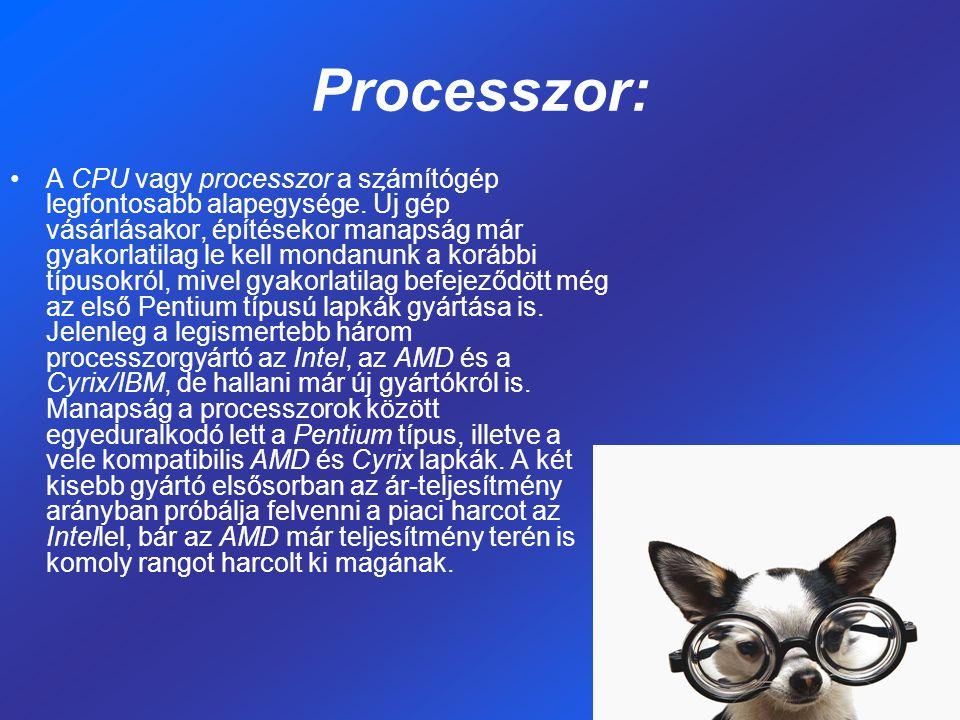 Processzor: