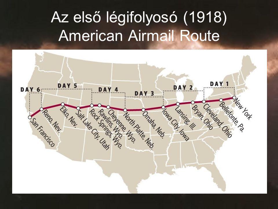Az első légifolyosó (1918) American Airmail Route