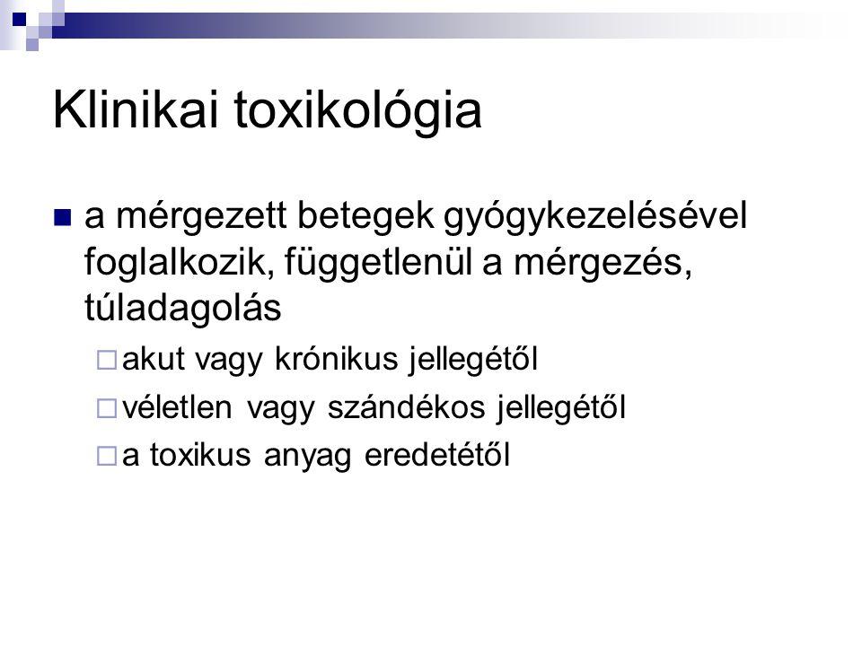 Klinikai toxikológia a mérgezett betegek gyógykezelésével foglalkozik, függetlenül a mérgezés, túladagolás.