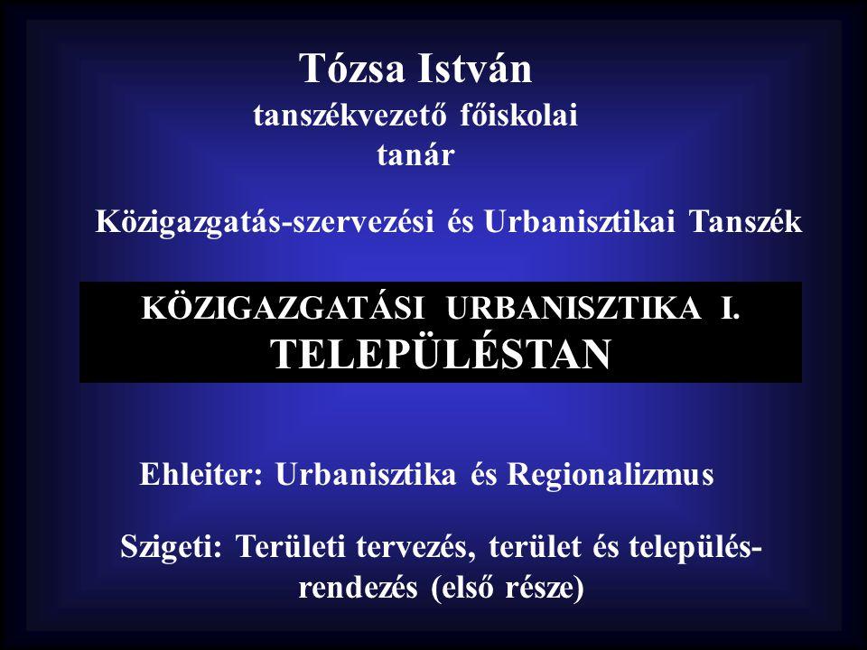 Tózsa István tanszékvezető főiskolai tanár