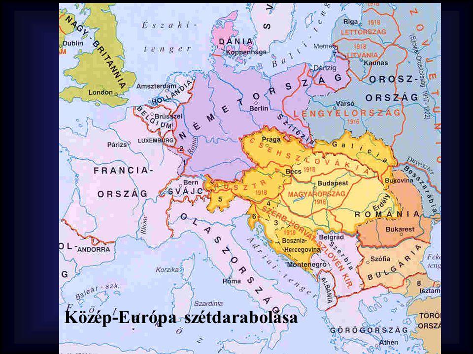 Közép-Európa szétdarabolása