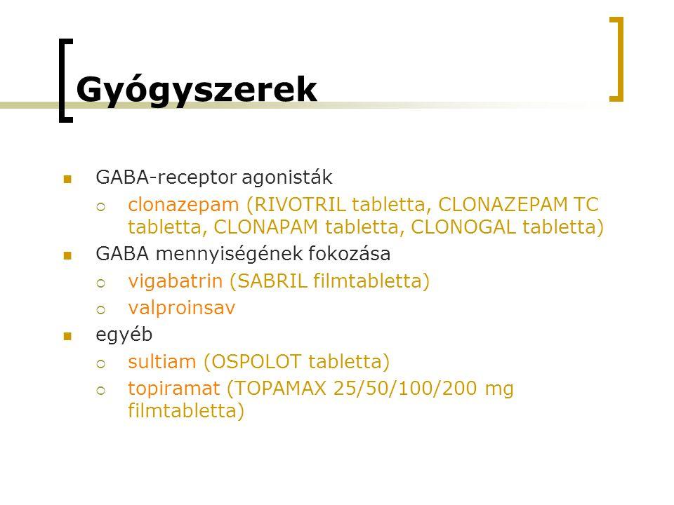 Gyógyszerek GABA-receptor agonisták