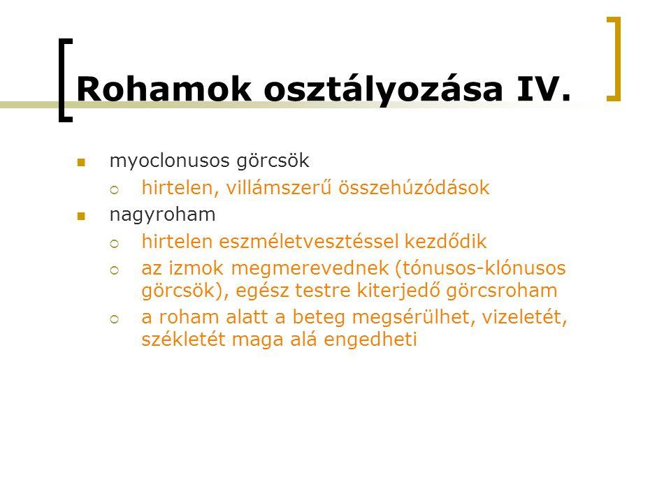Rohamok osztályozása IV.