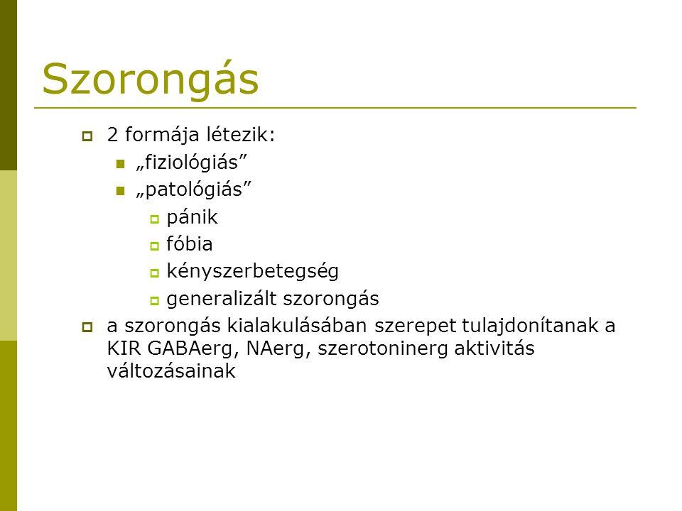 """Szorongás 2 formája létezik: """"fiziológiás """"patológiás pánik fóbia"""