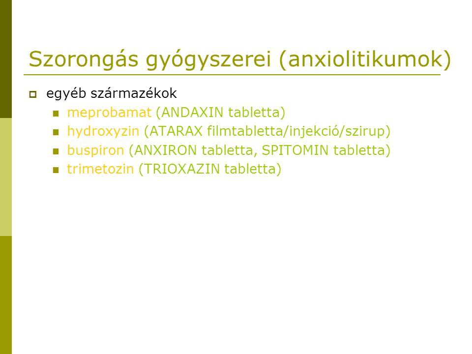 Szorongás gyógyszerei (anxiolitikumok)