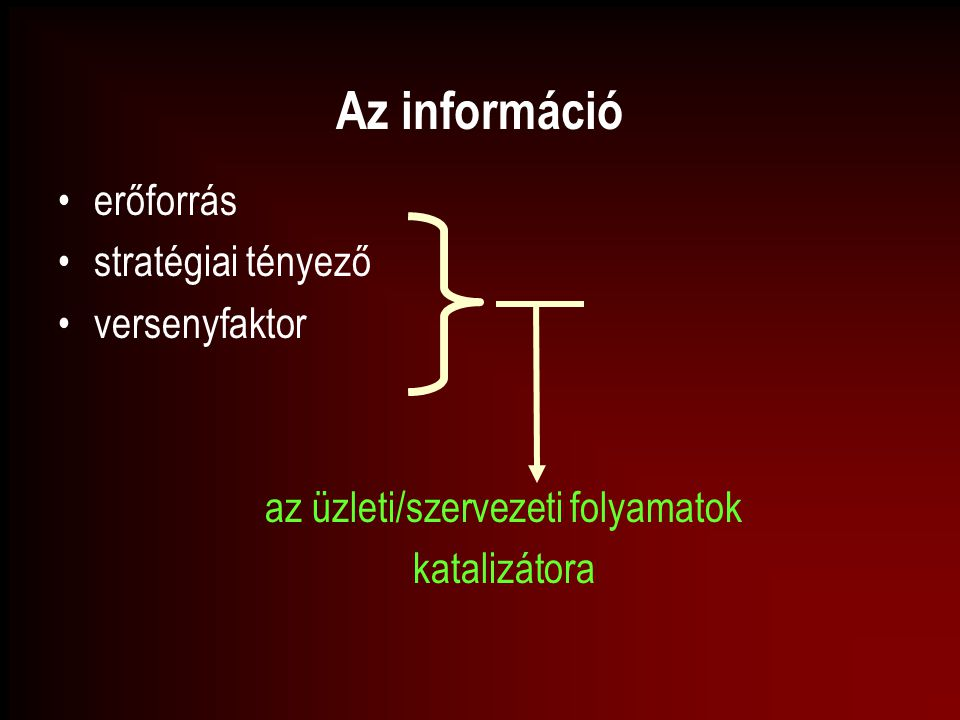 az üzleti/szervezeti folyamatok