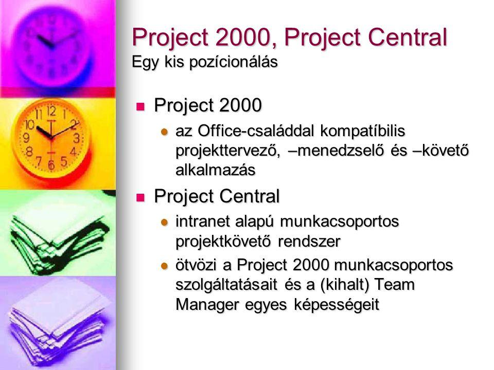 Project 2000, Project Central Egy kis pozícionálás