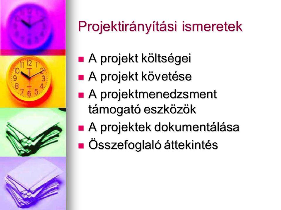 Projektirányítási ismeretek