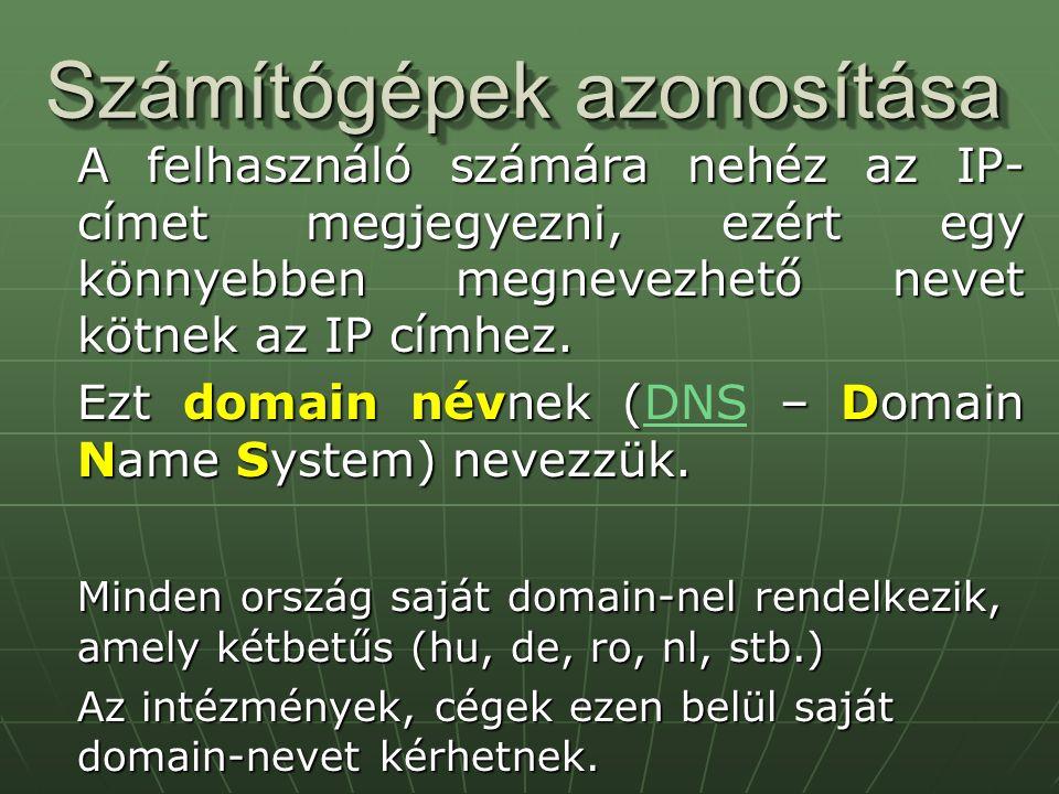 Számítógépek azonosítása
