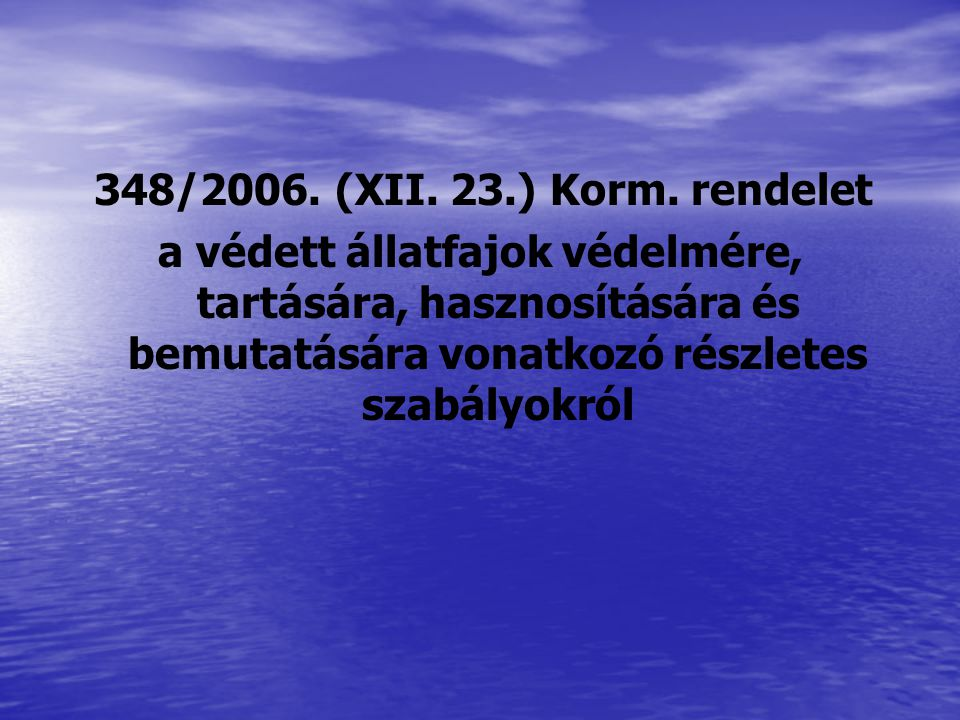 348/2006. (XII. 23.) Korm.