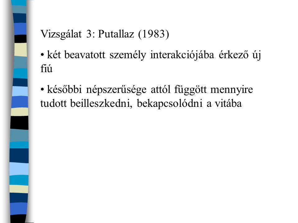 Vizsgálat 3: Putallaz (1983)