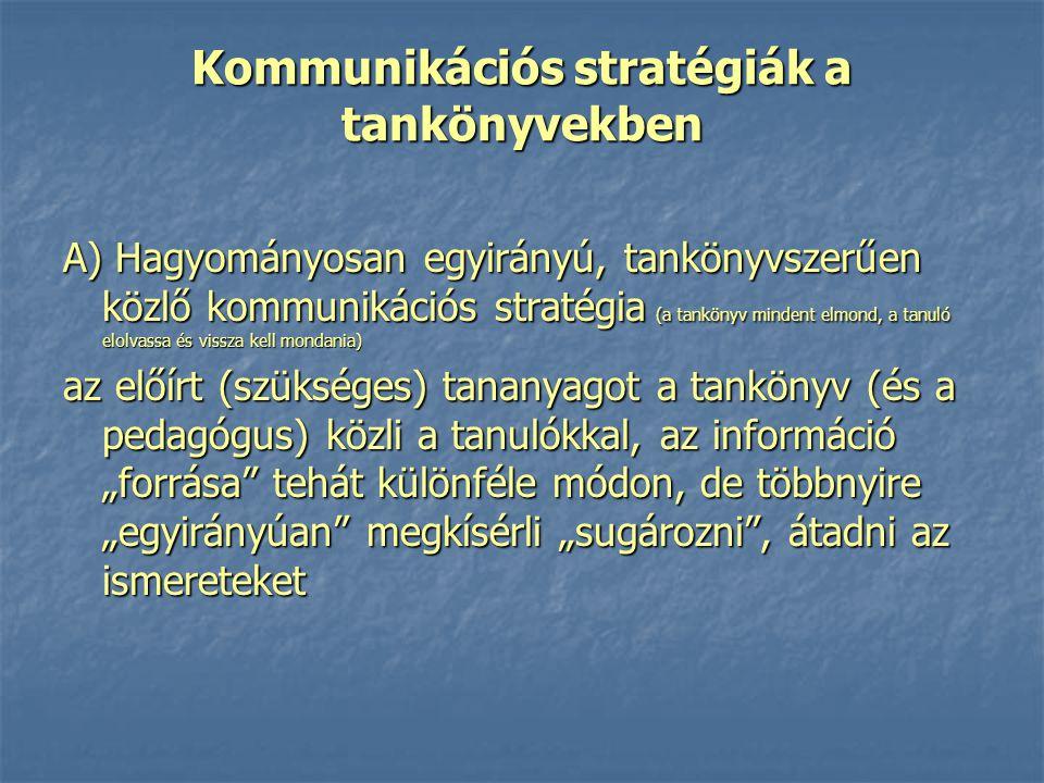 Kommunikációs stratégiák a tankönyvekben