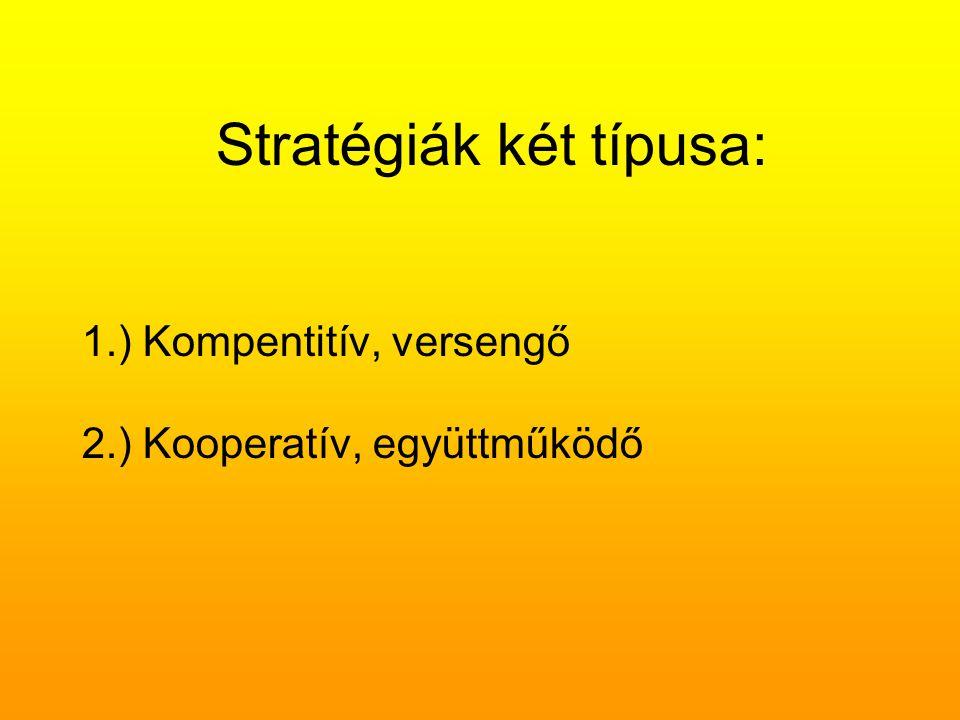 Stratégiák két típusa: