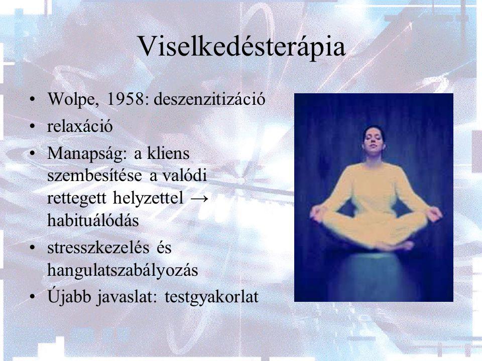 Viselkedésterápia Wolpe, 1958: deszenzitizáció relaxáció