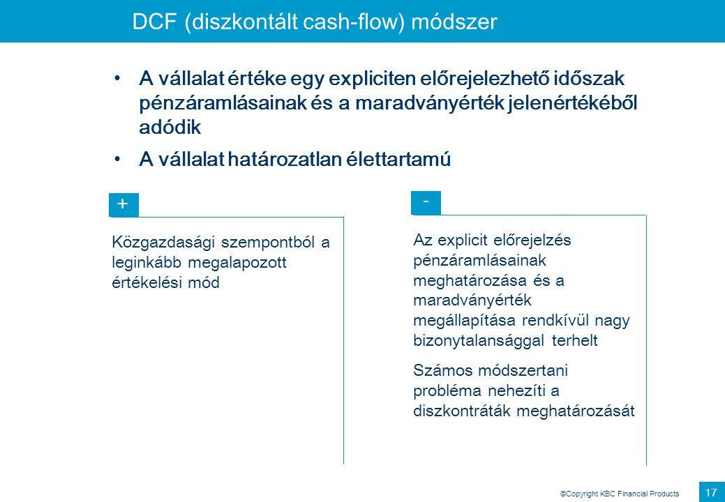 DCF (diszkontált cash-flow) módszer