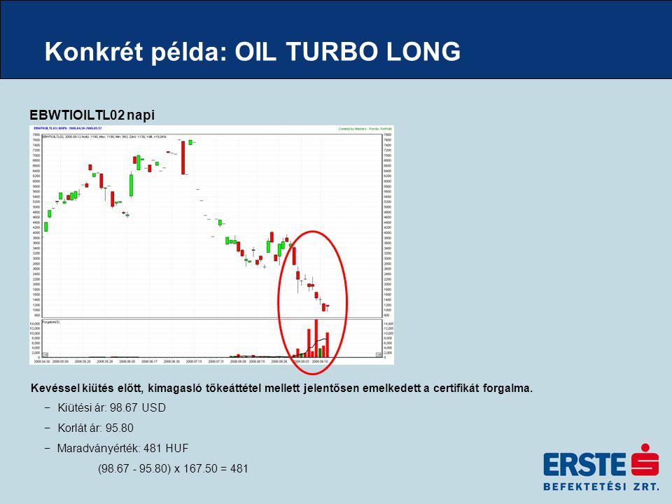 Konkrét példa: OIL TURBO LONG