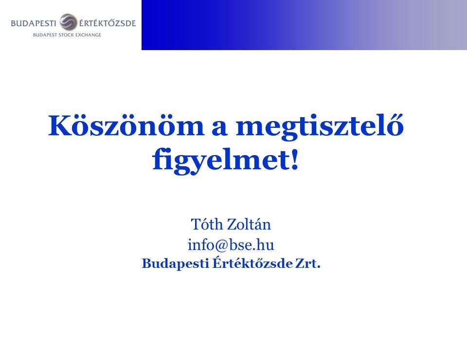 Tóth Zoltán info@bse.hu Budapesti Értéktőzsde Zrt.