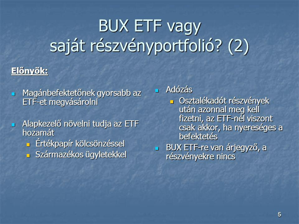 BUX ETF vagy saját részvényportfolió (2)