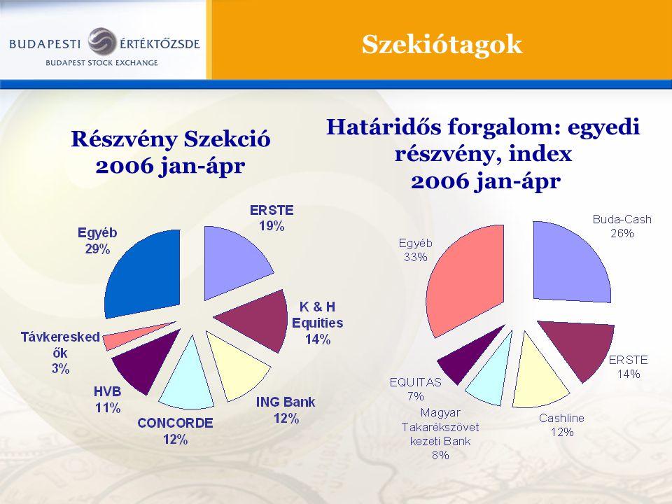 Határidős forgalom: egyedi részvény, index
