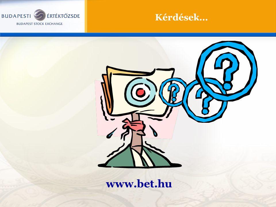 Kérdések… www.bet.hu