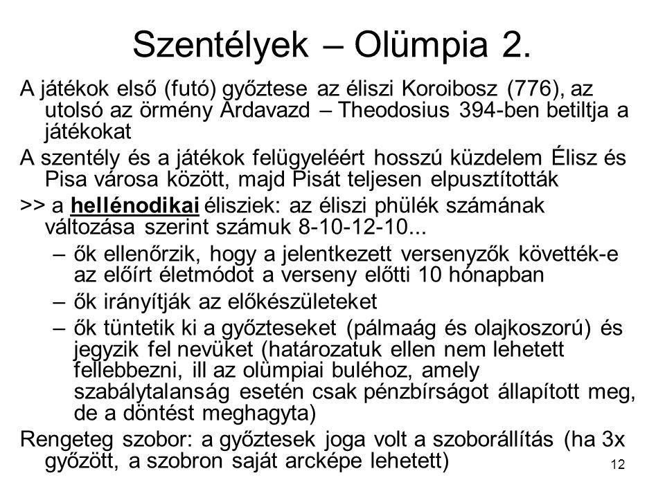 Szentélyek – Olümpia 2.