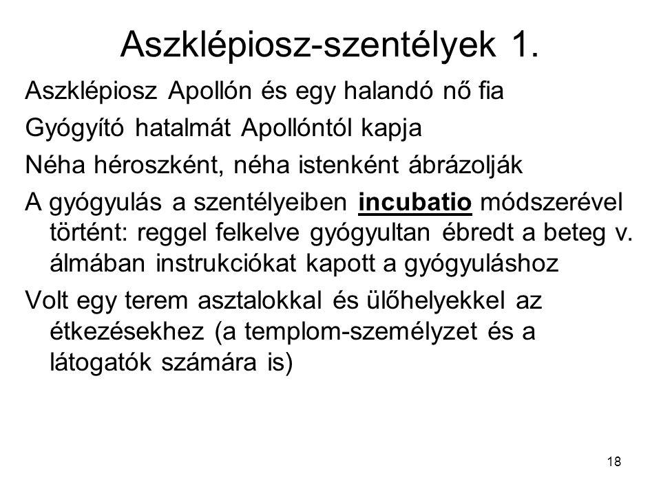 Aszklépiosz-szentélyek 1.