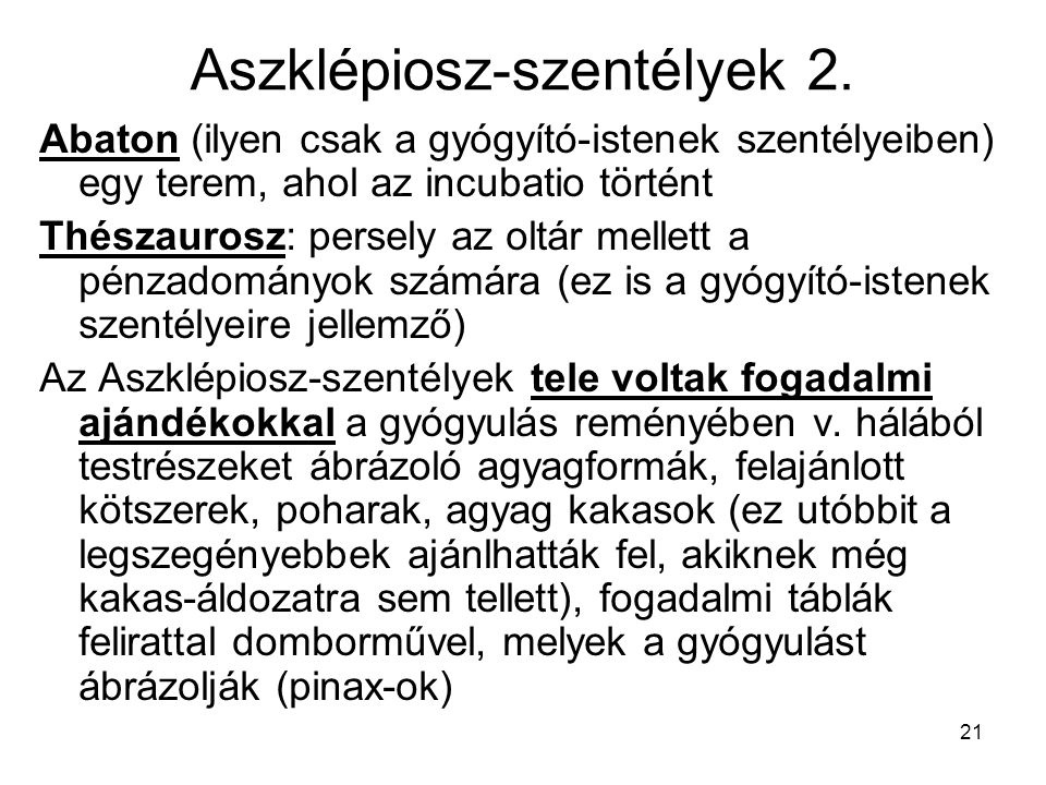 Aszklépiosz-szentélyek 2.
