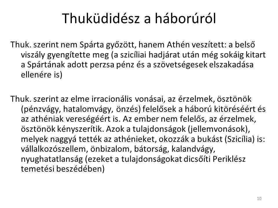 Thuküdidész a háborúról