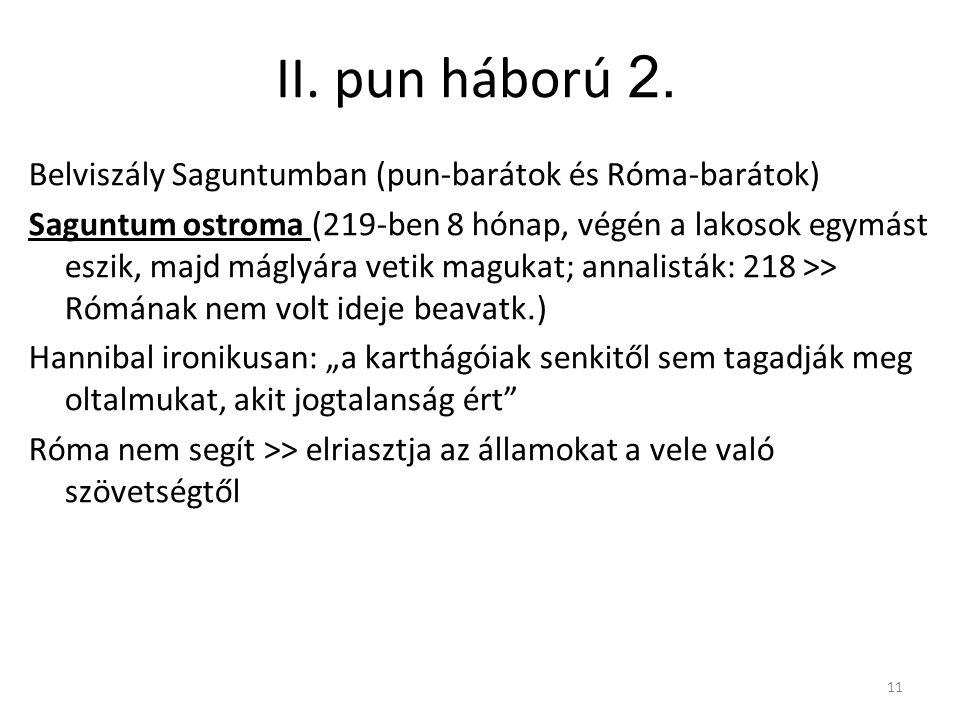 II. pun háború 2. Belviszály Saguntumban (pun-barátok és Róma-barátok)
