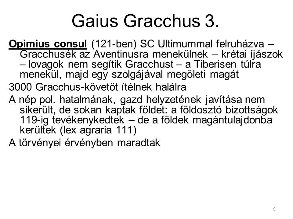 Gaius Gracchus 3.