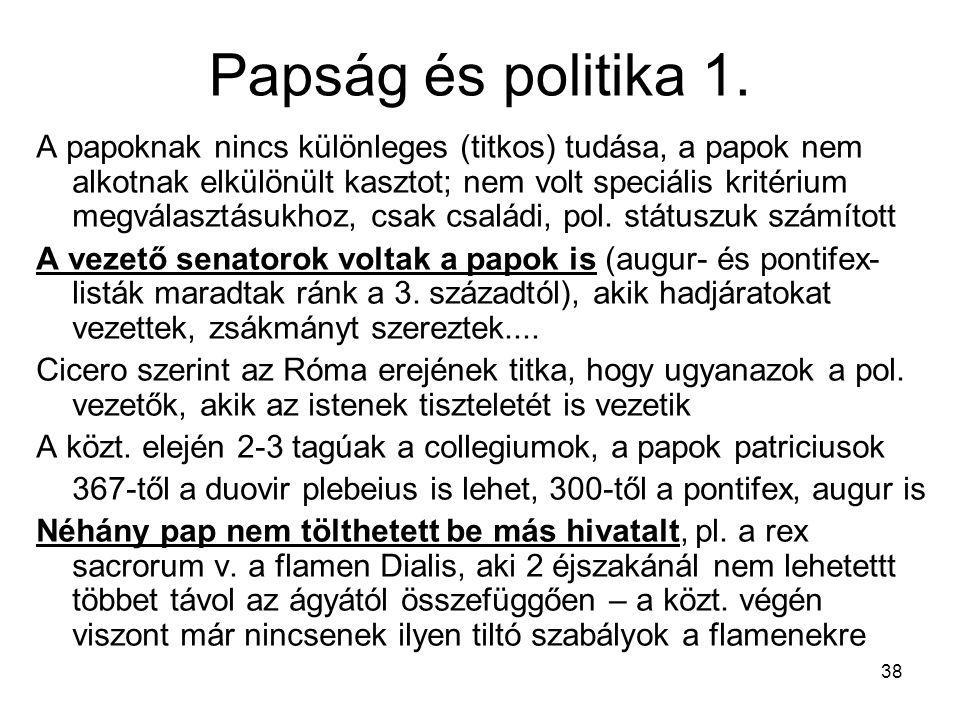 Papság és politika 1.