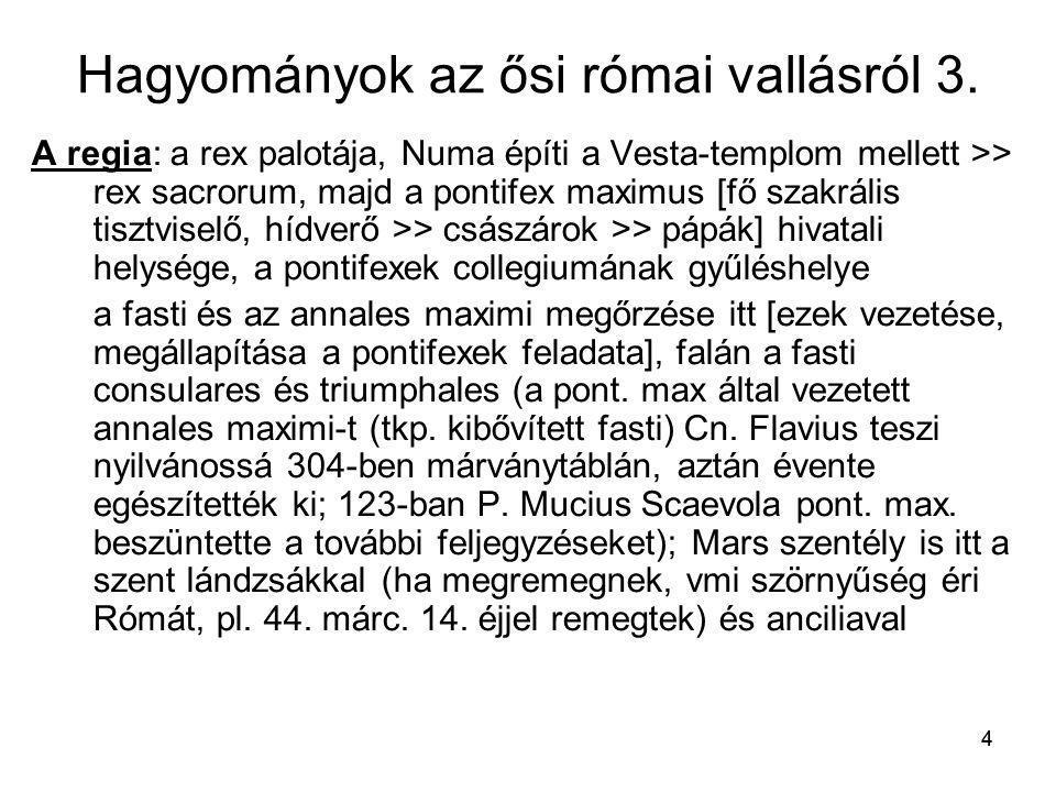 Hagyományok az ősi római vallásról 3.