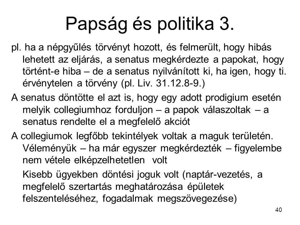 Papság és politika 3.