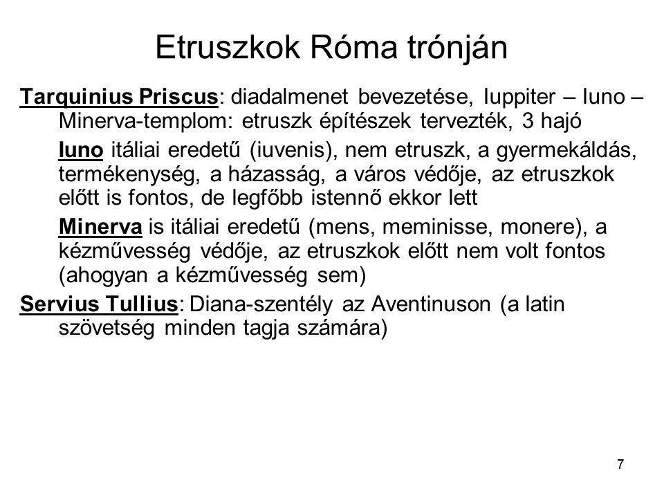 Etruszkok Róma trónján
