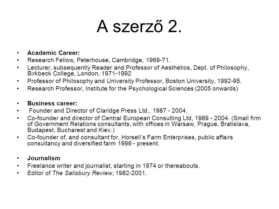 A szerző 2. Academic Career: