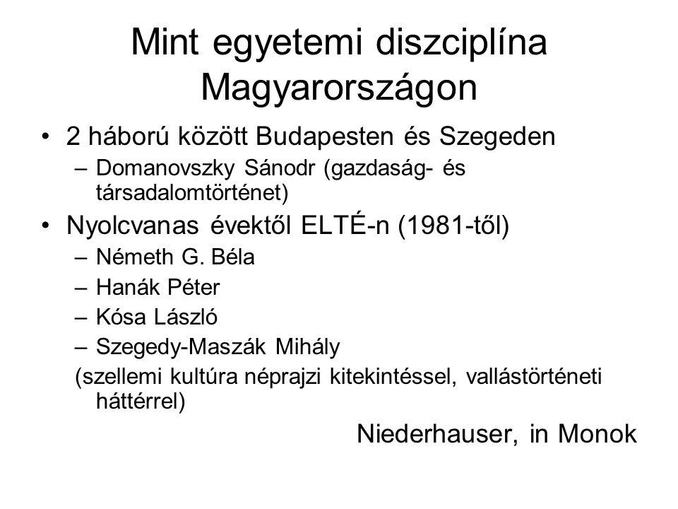 Mint egyetemi diszciplína Magyarországon