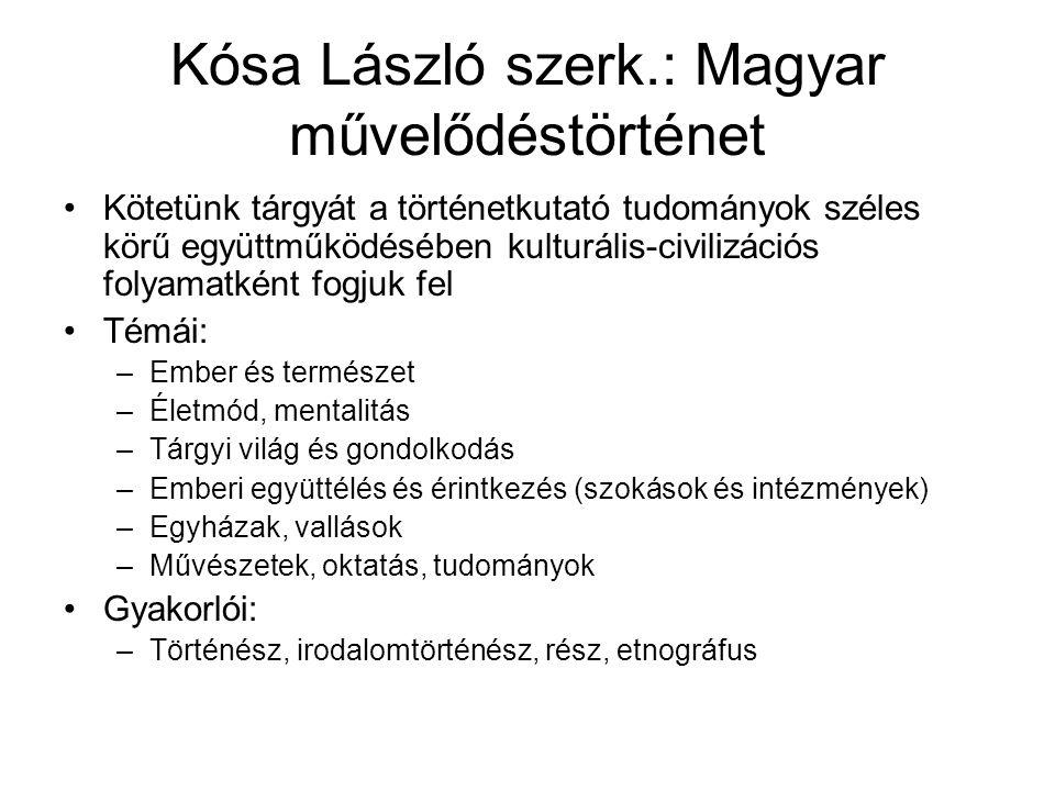 Kósa László szerk.: Magyar művelődéstörténet