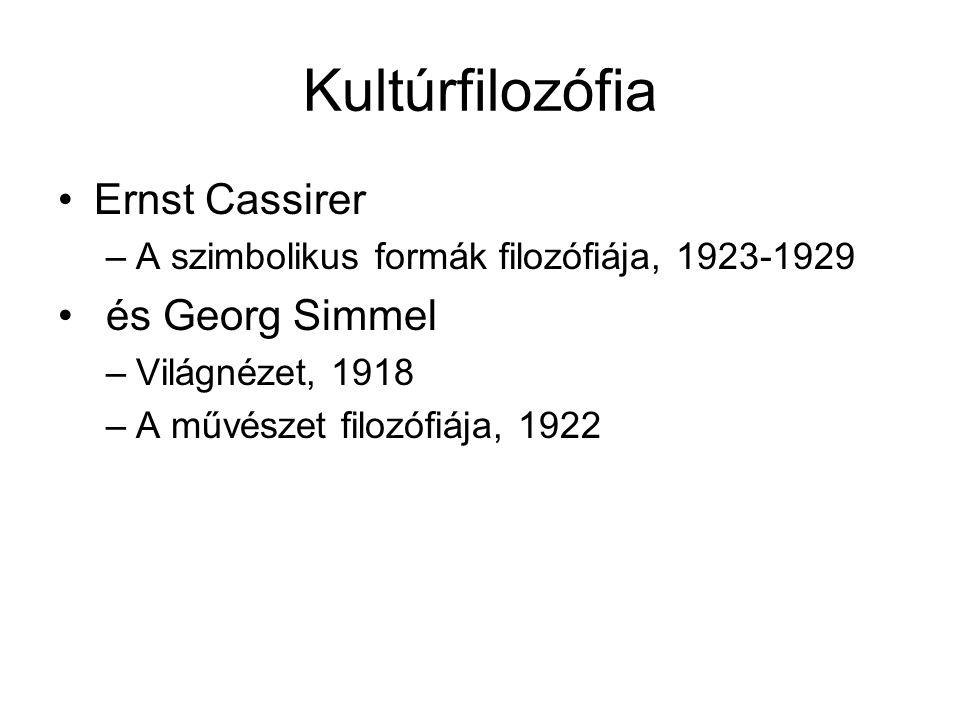 Kultúrfilozófia Ernst Cassirer és Georg Simmel