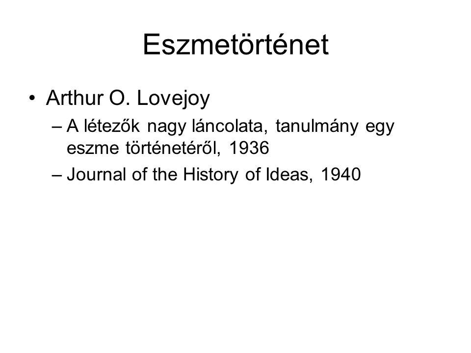 Eszmetörténet Arthur O. Lovejoy