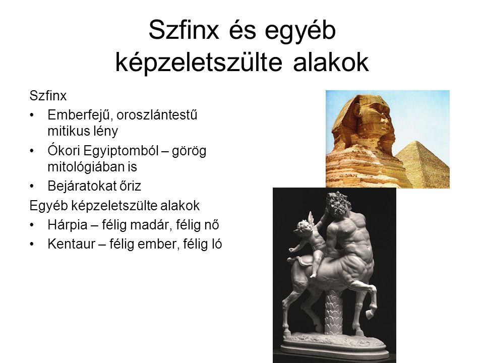Szfinx és egyéb képzeletszülte alakok