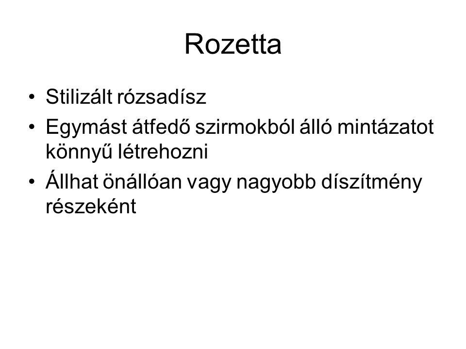 Rozetta Stilizált rózsadísz