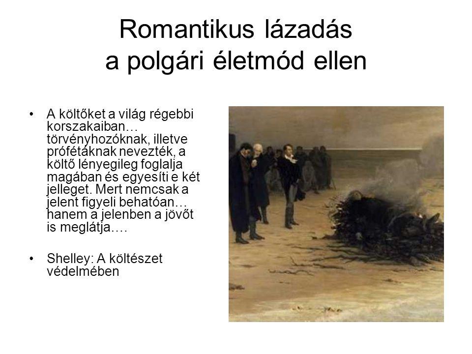 Romantikus lázadás a polgári életmód ellen